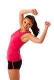 Femme active faisant l'aérobic pour une cardio- danse de formation Photos libres de droits