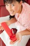 Femme actuelle de cadeau Image stock