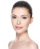 Femme adulte avec le beau visage Image stock