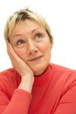 Femme adulte qui est plus de quarante ans. Photo stock