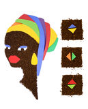 Femme africain Images stock