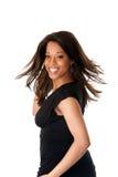 Femme africain d'affaires avec le cheveu de tourbillonnement Image libre de droits