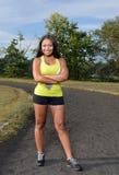 Femme afro-américaine sexy - forme physique Photo libre de droits