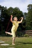 Femme agée faisant des exercices Image stock