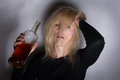 Femme alcoolique photos libres de droits