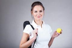 Femme allant sur le match de tennis photo libre de droits