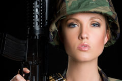 Femme américain image stock