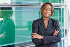 Femme américaine d'affaires d'Africain noir Photographie stock