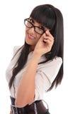 Femme amicale d'affaires Photographie stock libre de droits