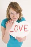 Femme amoureux Photographie stock libre de droits