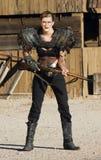 Femme anachronique de bandit image stock