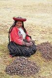 Femme andine Photographie stock libre de droits