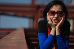 Femme asiatique à la mode Images libres de droits