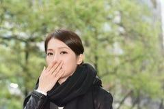 Femme asiatique élégante de la tristesse Photo stock
