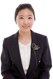 Femme asiatique assez jeune d'affaires Images stock