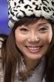 Femme asiatique avec le grand sourire Photographie stock libre de droits
