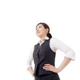 Femme asiatique confiante d'affaires Images libres de droits
