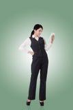 Femme asiatique confiante d'affaires Photographie stock libre de droits