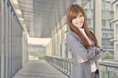 Femme asiatique d'affaires de sourire Image libre de droits