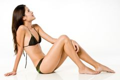 Femme asiatique dans le bikini photo stock