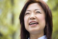 Femme asiatique de sourire Image libre de droits