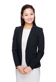 Femme asiatique de sourire d'affaires Photos stock