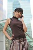 femme asiatique de ville Image libre de droits