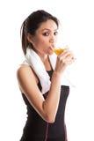 Femme asiatique en bonne santé Photo stock