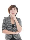 Femme asiatique futée d'affaires photo stock