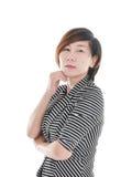 Femme asiatique futée d'affaires image libre de droits