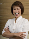 Femme asiatique heureuse image libre de droits