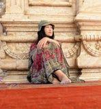 Femme asiatique s'asseyante photos libres de droits