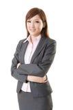Femme asiatique sûre d'affaires Images stock