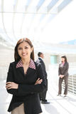 Femme assez asiatique d'affaires images libres de droits