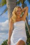 Femme assez blonde Photo libre de droits