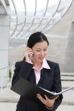 Femme assez chinoise d'affaires Photo libre de droits