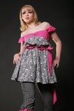Femme assez jeune dans la robe Photos stock