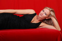 Femme attirant. Images stock