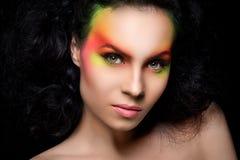 femme attirante avec le maquillage color photo stock - Colori Maquillage