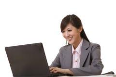 Femme attirante d'affaires image stock