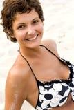 Femme attirante de brunet Photographie stock