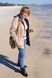 Femme attirante en hiver Images libres de droits