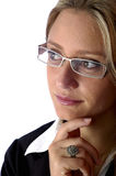 Femme attirante regardant loin Images libres de droits