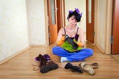 Femme au foyer Photos stock