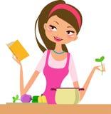 Femme au foyer-cuisson Photographie stock