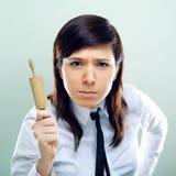 femme au foyer d'affaires folle Photographie stock libre de droits
