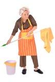 Femme au foyer de nettoyage Photo libre de droits