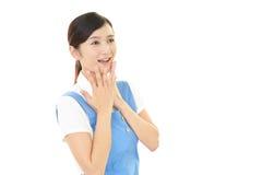 Femme au foyer de sourire Photos libres de droits