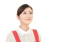 Femme au foyer de sourire Image libre de droits