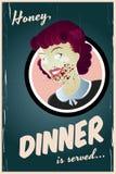 Femme au foyer de zombi Images libres de droits